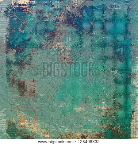 Highly detailed scratched texture, aged grungy background. Vintage style composition with different color patterns: yellow (beige); brown; gray; green; blue; cyan
