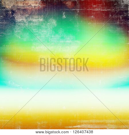 Oldest vintage background in grunge style. Ancient texture with different color patterns: yellow (beige); red (orange); green; blue; white