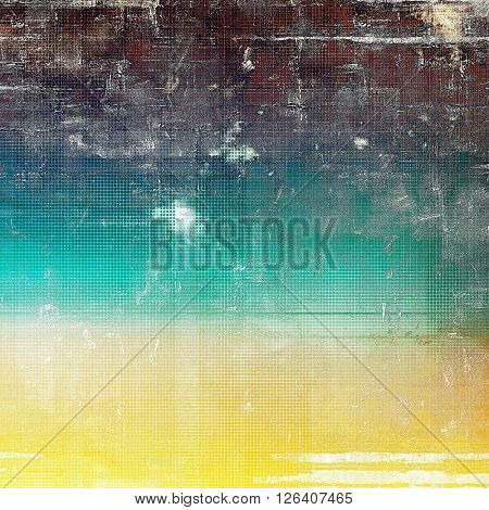 Old abstract texture used as shabby grungy background. With different color patterns: yellow (beige); brown; gray; blue; white; cyan