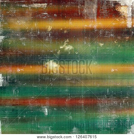 Creative grunge background in vintage style. Faded shabby texture with different color patterns: yellow (beige); brown; red (orange); green; blue; white