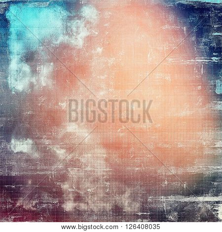 Aged grunge graphic background with shabby texture in vintage style. With different color patterns: gray; red (orange); blue; purple (violet); pink