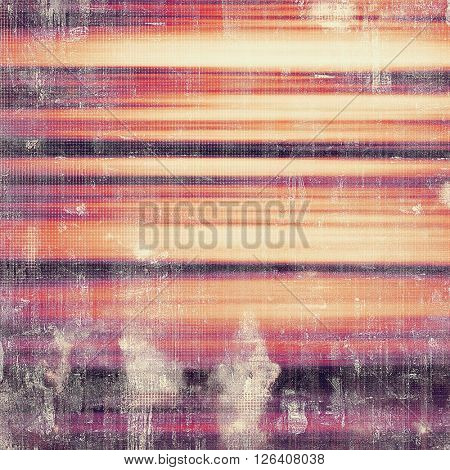 Mottled vintage background with grunge texture and different color patterns: yellow (beige); gray; red (orange); purple (violet); pink