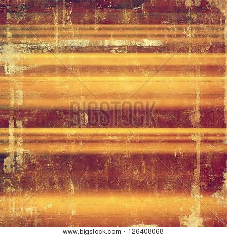 Weathered grunge elements on vintage texture for your design. Aged background with different color patterns: yellow (beige); brown; red (orange); purple (violet); pink
