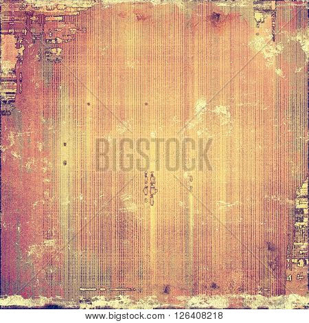 Old abstract texture used as shabby grungy background. With different color patterns: yellow (beige); brown; gray; red (orange); purple (violet); pink