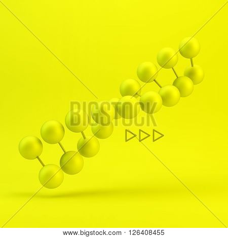 Vector illustration of dna structure in 3d. Can be used as background for your presentation.