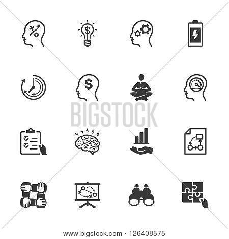 Productivity Improvement Icons Set 2 - Black Series