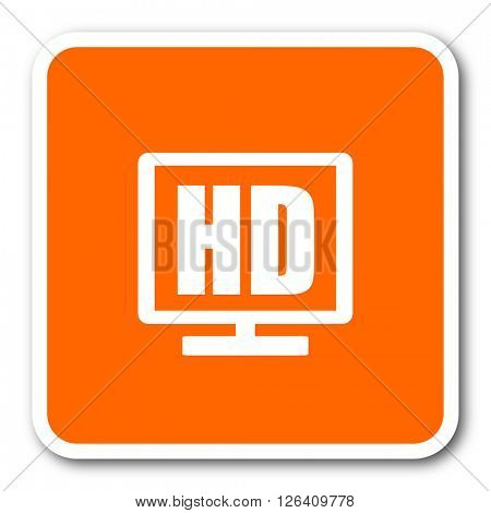 hd display orange flat design modern web icon