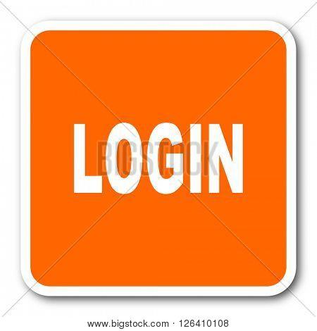 login orange flat design modern web icon