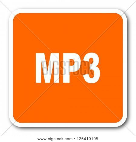mp3 orange flat design modern web icon