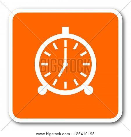 alarm orange flat design modern web icon