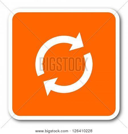 reload orange flat design modern web icon