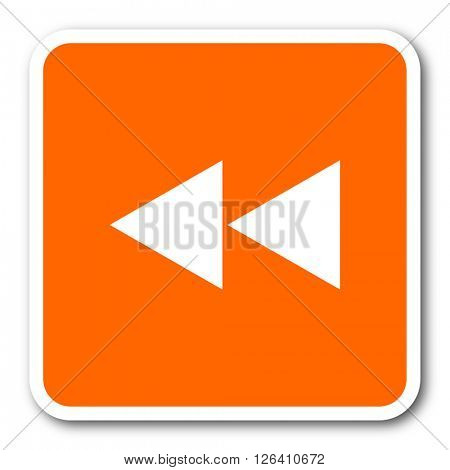 rewind orange flat design modern web icon