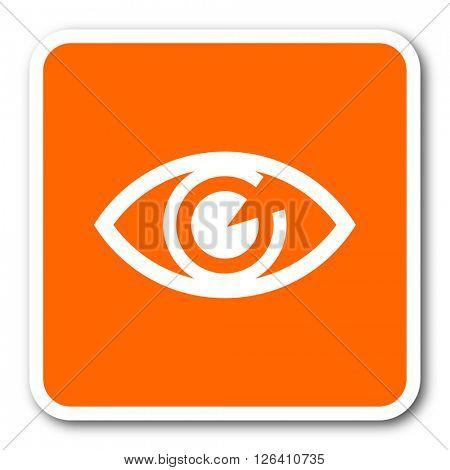 eye orange flat design modern web icon