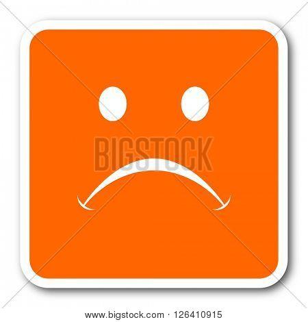 cry orange flat design modern web icon