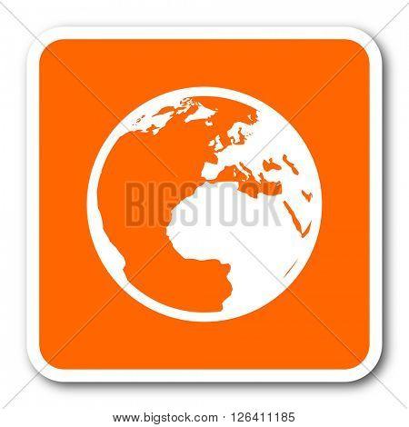 earth orange flat design modern web icon