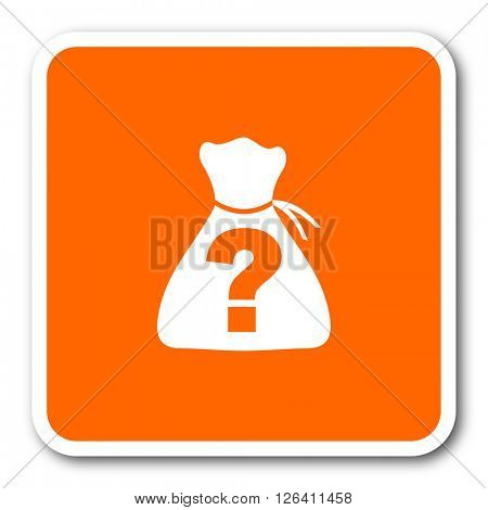 riddle orange flat design modern web icon