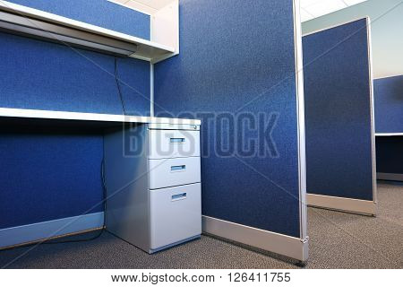 empty cubicle and furniture in the office