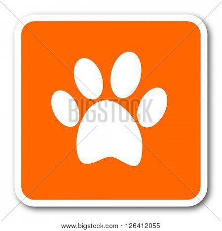 foot orange flat design modern web icon