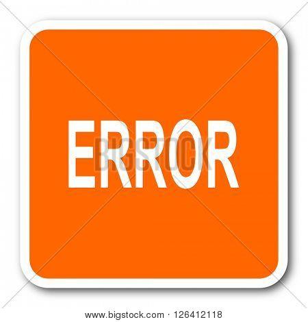 error orange flat design modern web icon