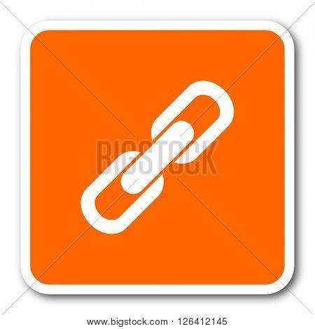 link orange flat design modern web icon