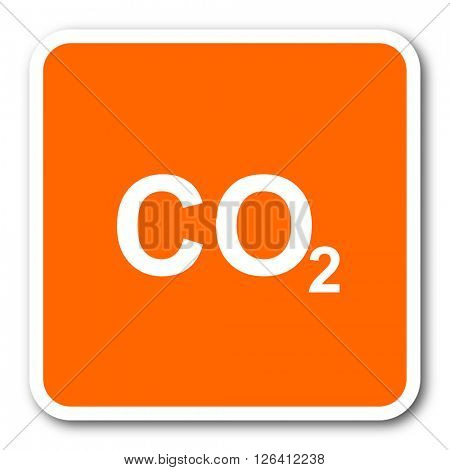 carbon dioxide orange flat design modern web icon