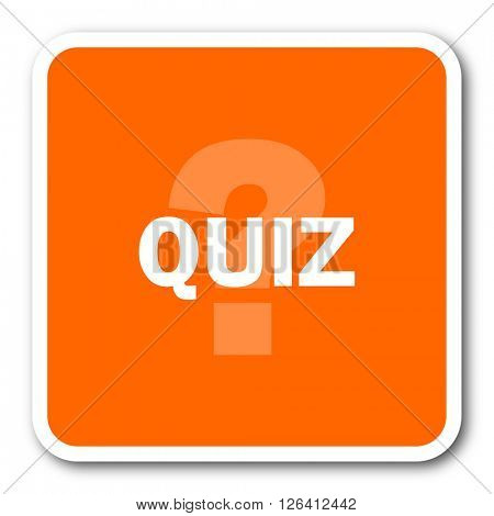 quiz orange flat design modern web icon