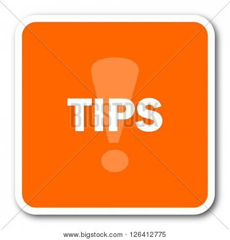tips orange flat design modern web icon