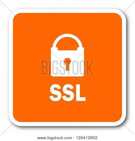 ssl orange flat design modern web icon