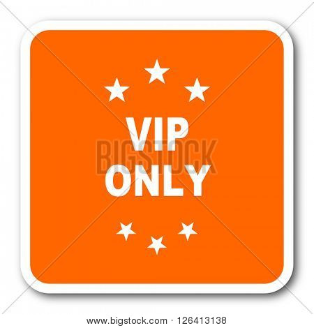 vip only orange flat design modern web icon