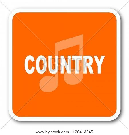 music country orange flat design modern web icon