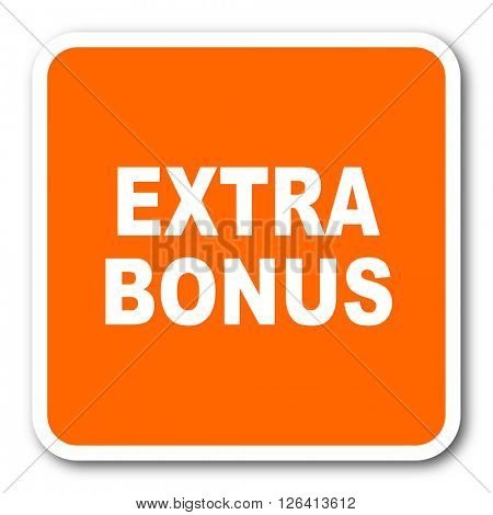 extra bonus orange flat design modern web icon