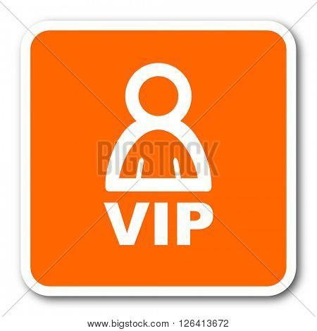 vip orange flat design modern web icon
