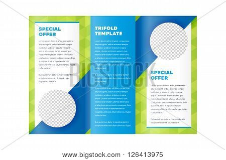 Design folding brochure. Tri fold template. Flyer layout. Creative trifold brochure. Tri fold design. Cover design concept. Tri fold cover and inside page. Advertising brochure template. Trifold. Tri fold brochure design.