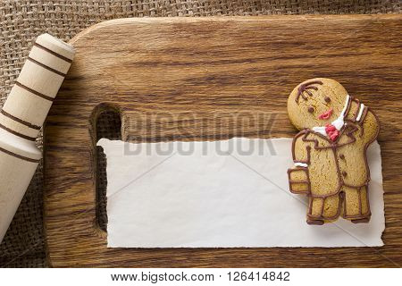 Cookies in the shape of a man profession Manager
