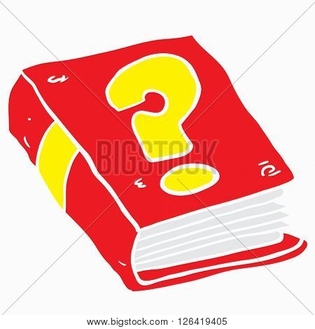 book with question mark cartoon