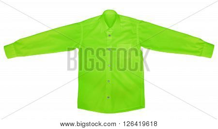 Shirt With Long Sleeves - Green