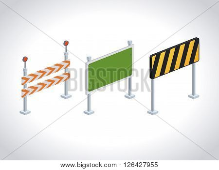 isometrics road sign design, vector illustration eps10 graphic