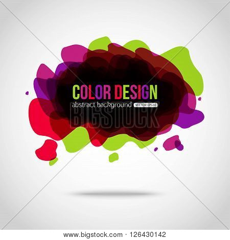 Abstract colorful background. Splotch creative background. Vector illustration.
