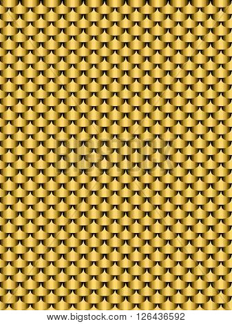 Brushed metal gold flake texture seamless background. Vector illustration