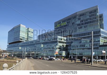 MOSCOW, RUSSIA - MARCH 28, 2016: View on the multifunctional Business Center