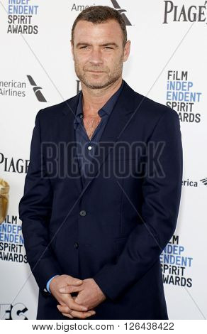 Liev Schreiber at the 2016 Film Independent Spirit Awards held at the Santa Monica Beach in Santa Monica, USA on February 27, 2016.