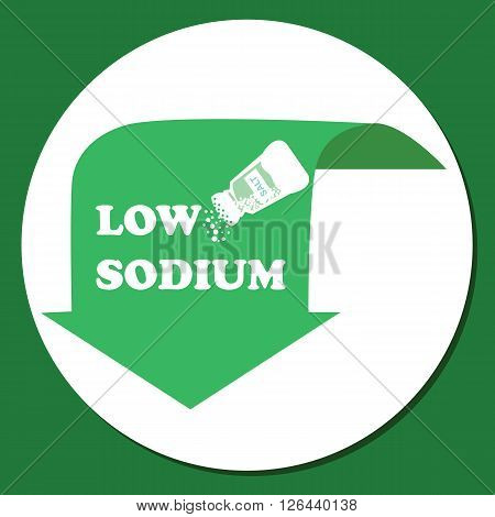 low sodium label green in food salt ingredients symbol logo vector
