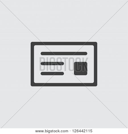 Cheque icon, isolated on white background illustration