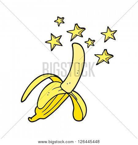 freehand drawn cartoon amazing banana