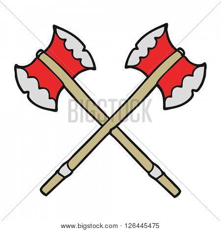 freehand drawn cartoon axes