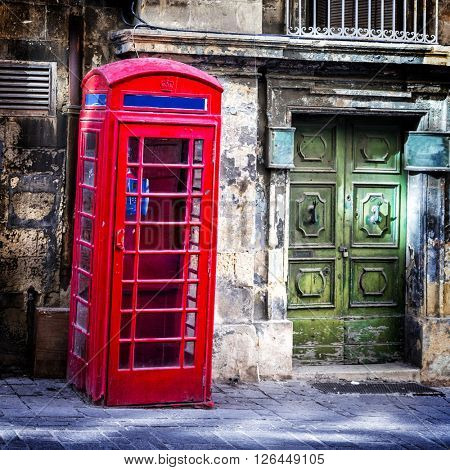 charming old streets of Valletta downtown. Malta
