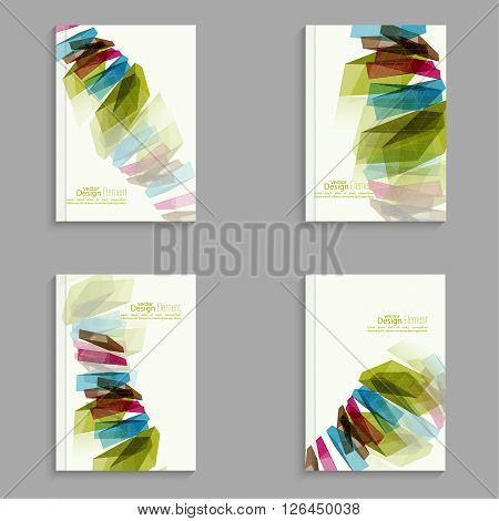 Set Magazine Cover with colored crystals, trellis structure. For book, brochure, flyer, poster, booklet, leaflet, postcard, business card, annual report. vector illustration. abstract background