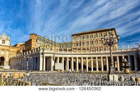 The Apostolic Palace in the Vatican city - Rome