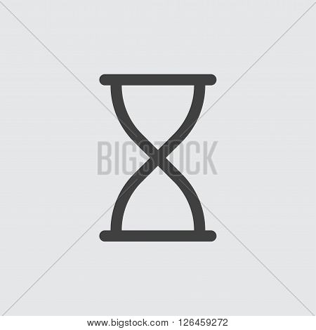 sandglass icon, isolated on white background illustration