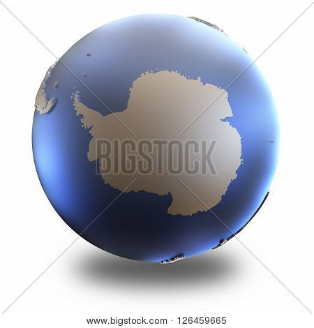 Antarctica On Metallic Earth